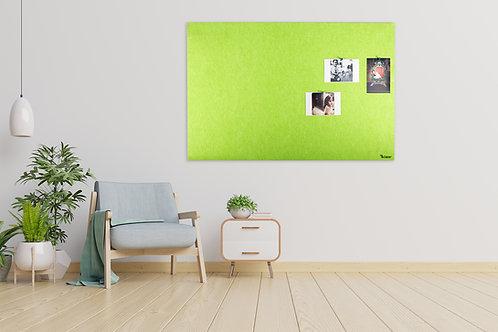לוח אקוסטי לנעיצה עם תליה נסתרת בצבע ירוק - לרוחב - Bclear