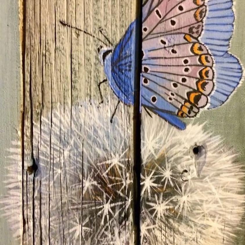 Stationhouse Pub & Grill -  Cedar Board Dandelion & Butterfly (1)