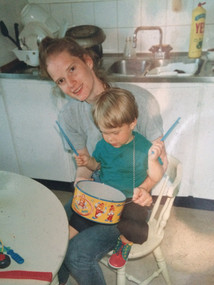 Xander Turian and his mother ca 1992