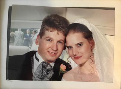 Ben & Sarah Lawton on their wedding day 1995
