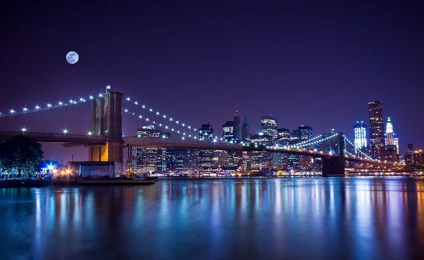 New York City's Brooklyn Bridge and Manh