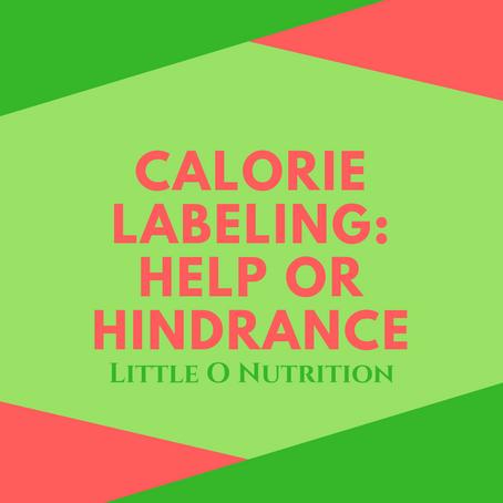 Should we put calorie information on menus?