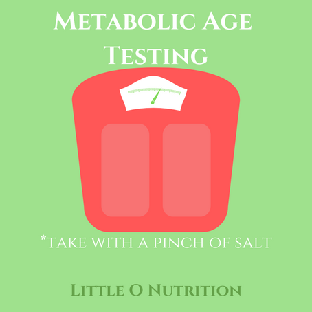 Metabolic Age Tests- to be taken with a pinch of salt.