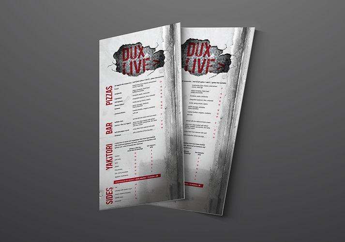 DUX Menu Design