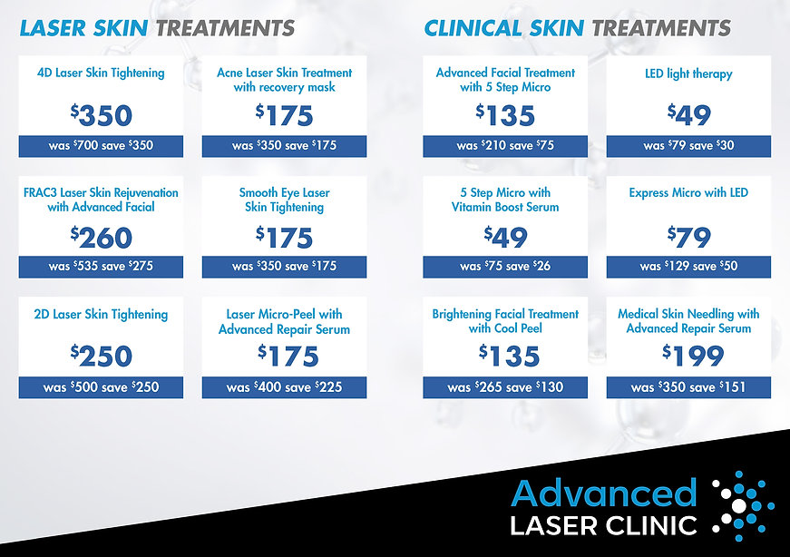 Up to 50% OFF Skin Treatments Specials