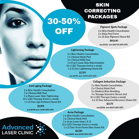 50% OFF Skin Correction Packages