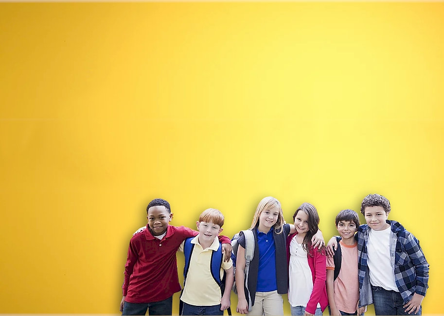 Yellow faded background with kids cutout