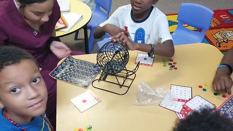 Bingo with the children