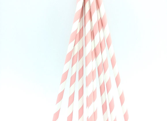 Pink White Striped