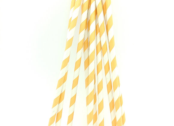 Orange White Striped