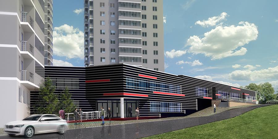 Офисный блок жилого комплекса