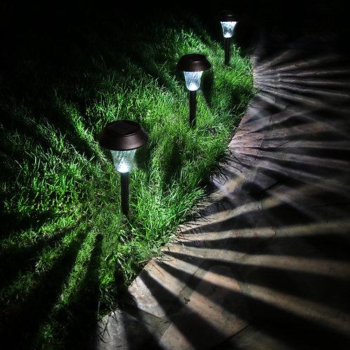 Set of 6 Black Solar Lights