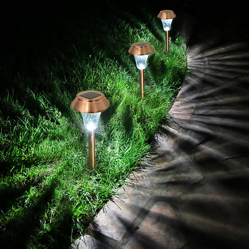 Set of 6 Copper Solar Lights