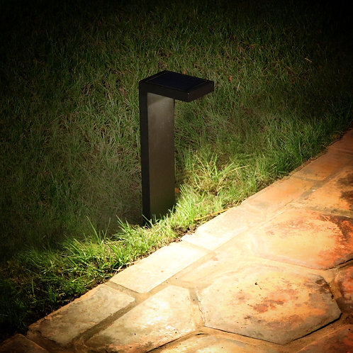 L-Shaped Modern Black Solar Light