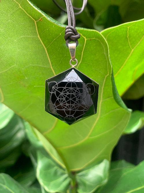 Metatron's Cube (Obsidian)