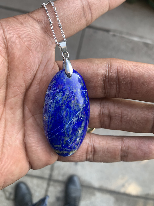 Lapis Lazuli Pendant w/ Chain