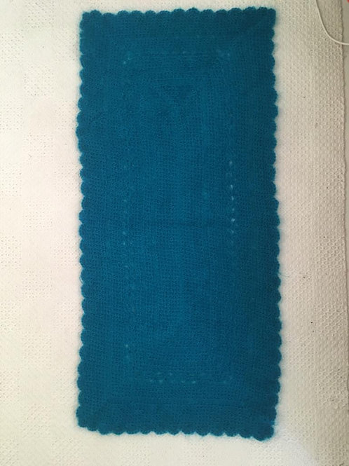 Teal mohair blend shawl