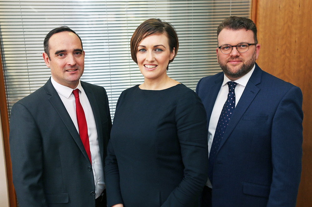 (L-R) Tom Crier, Natalie Tansey and Mark Hopley.