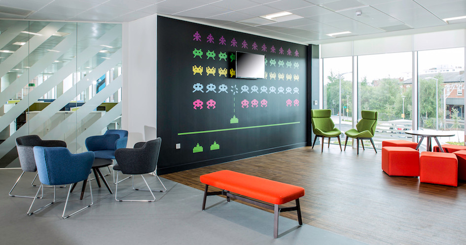 Entertainment inspired design for musicMagpie's new HQ in Stockport