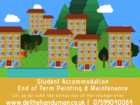 Student Accommodation : End of Term Student Changeover Painting & Maintenance Services