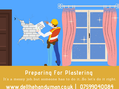 How to prepare for your plastering work..