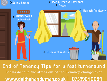 End of Tenancy Changeover :  Decorating & Maintenance