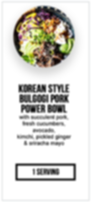 intermittent fasting package pork Bulgog