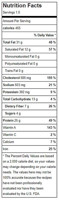 Nutritional Facts - menu 3 2021 - PUMPKI