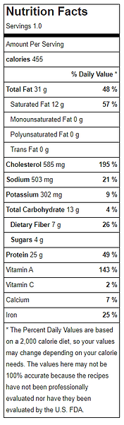 Nutritional Facts - menu 3 2021 - PUMPKI