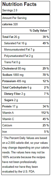 Teriyaki chicken with shiritaki noodle bowl nutritional facts.PNG