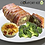 Thumbnail: Bacon Wrapped Meatloaf with Cauliflower Mac n Cheese and Vegetable Medley