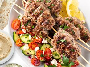 """Featuring Our Grilled Summer Favorite """"Mediterranean Kofta Kabob"""""""
