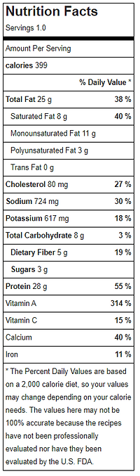 Harvest Cobb Salad w French Dressing nutritional facts.PNG