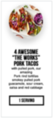 intermittent fasting package 4 Pork Taco