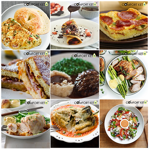12 Weekly Chef prepared gourmet keto - low-carb meals ideal for 6 days Intermittent Fasting