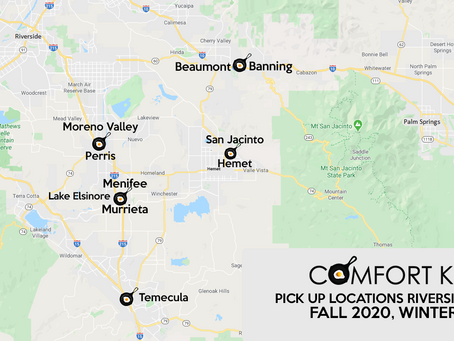 Our Neighborhood Pick-up Locations Will Start Serving the Riverside Communities In November 2020!
