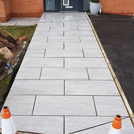 New pathway to the front door using porc