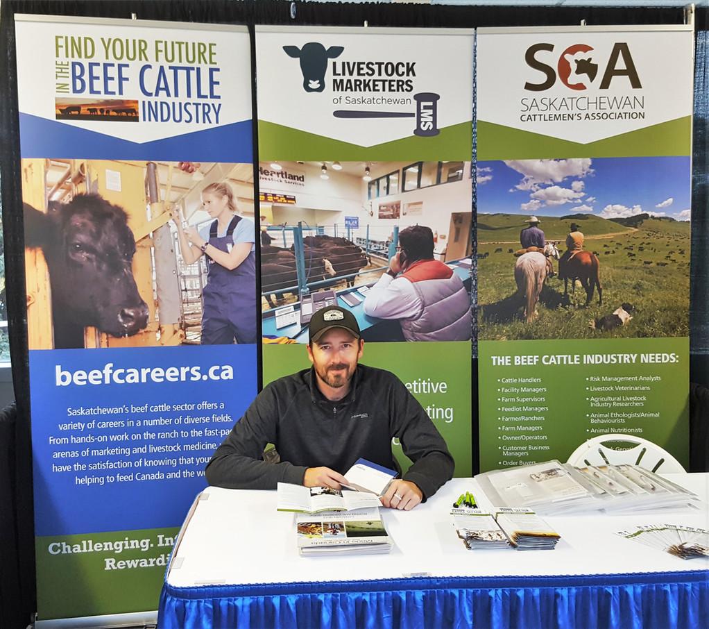 Rhett Parks at Agriculture Career Fair