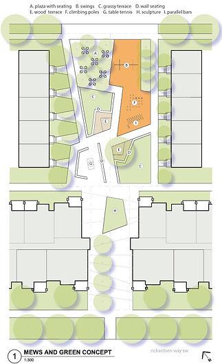 Caen Avenue concept plan