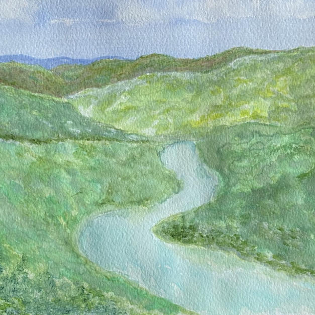 #2 A River Through Green Hills