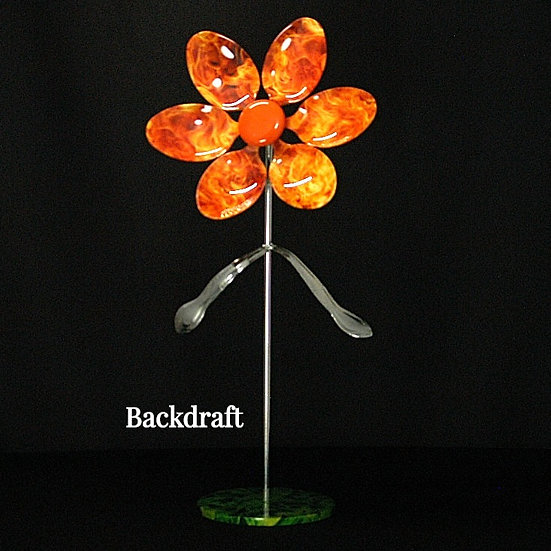 Backdraft Large Flower W/Base