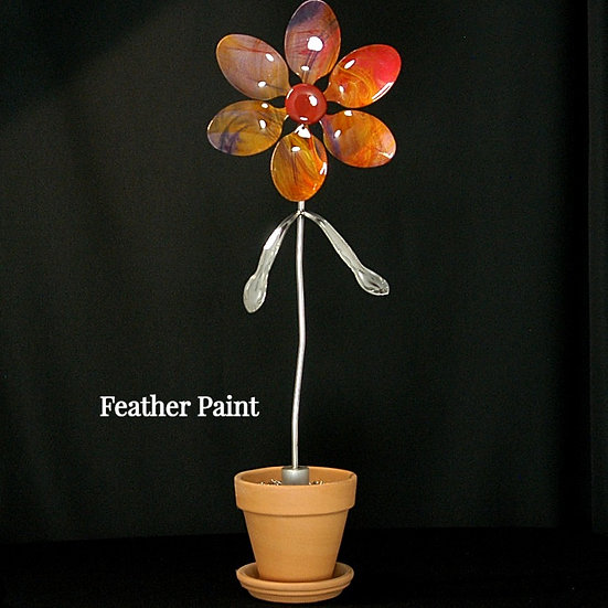 Feather Paint Large Flower (Stake Only)