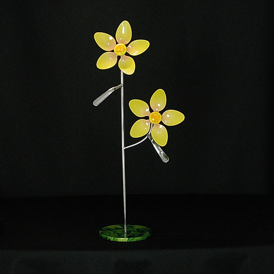 Yellow Small Flowers w/Base