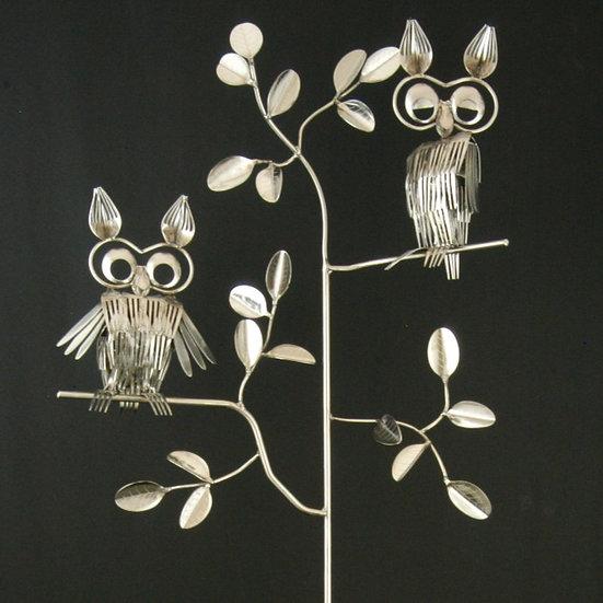 Double Owl Garden Stake $275.00
