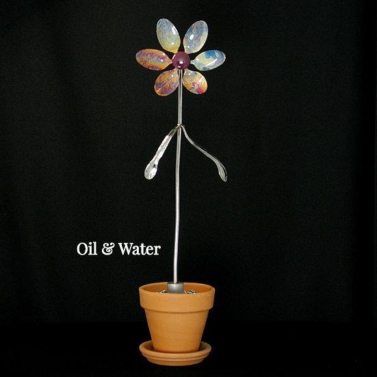 Oil & Water Med Flower (Stake Only)