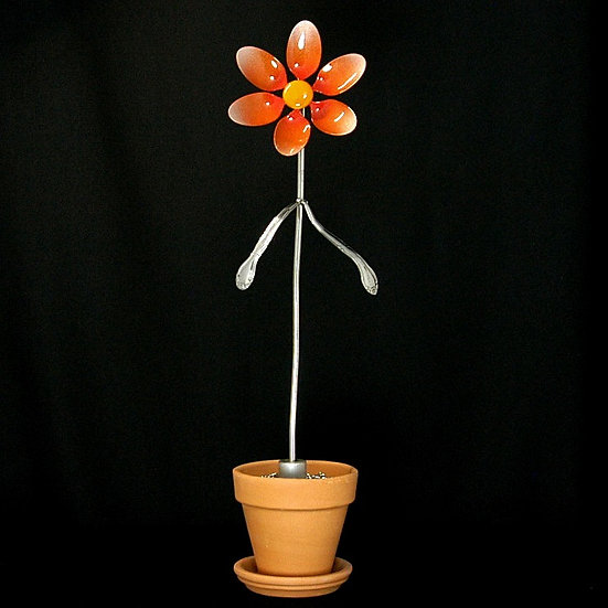 Orange Medium Flower (Stake Only)