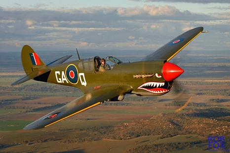 "1943 Curtiss Wright P-40N-1""Kittyhawk"""