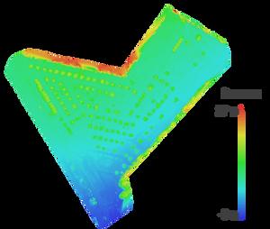 Цифровая модель рельефа с высотами