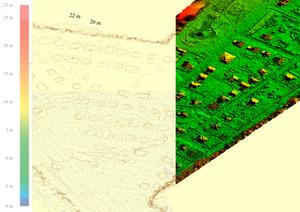 Водотоки, водоразделы, изогипсы и цветовая классификация высот