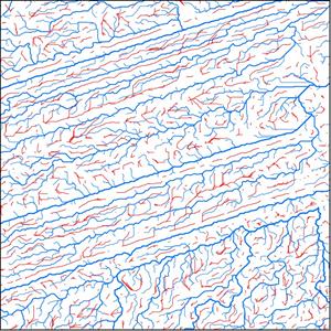 Карта водотоков и водоразделов